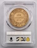 """100 франков. 1906. """"Золотой ангел"""" Франция. слаб PCGS (золото 900, вес 32,25 г), фото №4"""