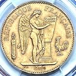 """100 франков. 1906. """"Золотой ангел"""" Франция. слаб PCGS (золото 900, вес 32,25 г), фото №5"""