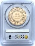 """100 франков. 1906. """"Золотой ангел"""" Франция. слаб PCGS (золото 900, вес 32,25 г), фото №13"""