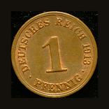 Германия 1 пфеннигов 1913, фото №2