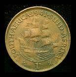 Британская Южная Африка пенни 1941, фото №2