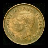 Британская Южная Африка пенни 1941, фото №3