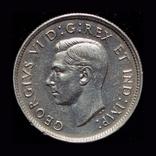 Канада 25 центов 1941 серебро, фото №3