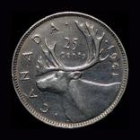Канада 25 центов 1941 серебро, фото №2