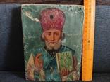 Старая икона Святой Николай, фото №3