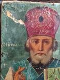 Старая икона Святой Николай, фото №6