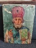 Старая икона Святой Николай, фото №7