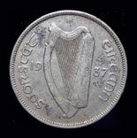 Ирландия флорин 1937 серебро редкий год, фото №2