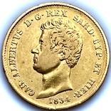 20 лир. 1834. Карл Альберт. Сардиния (золото 900, вес 6,40 г), фото №11