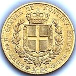 20 лир. 1834. Карл Альберт. Сардиния (золото 900, вес 6,40 г), фото №12
