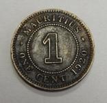 1 цент, 1920 г Маврикий, фото №2