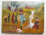 Картина арт брют арлекин, фото №2