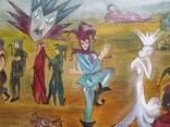 Картина арт брют арлекин, фото №3