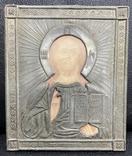 Икона Иисуса Христа в окладе, фото №2