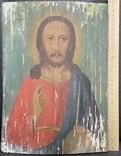 Старинная икона Иисус Христос Вседержитель, фото №5