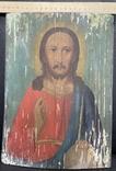 Старинная икона Иисус Христос Вседержитель, фото №6