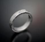 Каблучка із залізного метеорита Muonionalusta N1, з сертифікатом автентичності, фото №4
