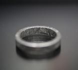 Каблучка із залізного метеорита Muonionalusta N1, з сертифікатом автентичності, фото №12