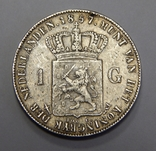 1 гульден, 1857 г Нидерланды, фото №2