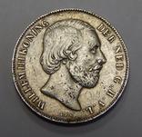 1 гульден, 1857 г Нидерланды, фото №3