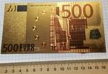Позолоченная сувенирная банкнота 500 Euro в защитном файле, конверте / сувенір, фото №11