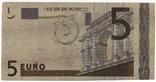 Золотая сувенирная банкнота 5 Euro (24K) в защитном файле / золота сувенірна банкнота, фото №8