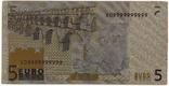 Золотая сувенирная банкнота 5 Euro (24K) в защитном файле / золота сувенірна банкнота, фото №9
