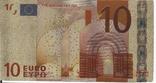 Позолоченная сувенирная банкнота 10 Euro (24K) в защитном файле / сувенір, фото №6