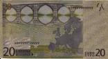 Позолоченная сувенирная банкнота 20 Euro (24K) в защитном файле / сувенірна банкнота, фото №8