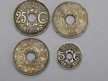 4 монеты Франции 5 и 25 центимес, фото №2