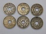 6 монет по 10 центимес, Франция, фото №2