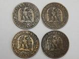 4 монеты по 5 центимес, Франция, фото №2