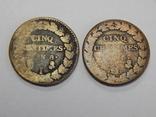 2 монеты по 5 центимес, Франция, фото №2