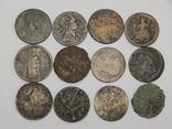 Лот 12 монет по 1/2 пенни, Великобритания, фото №2