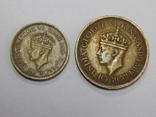25 и 50 центов, 1943 г Цейлон, фото №3