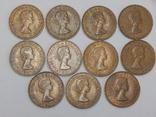 11 монет по 1 пенни, Великобритания, фото №3