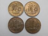 4 монеты по 1/2 пенни, Великобритания, фото №2