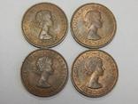 4 монеты по 1/2 пенни, Великобритания, фото №3
