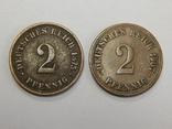 2 монеты по 2 пфеннига, Германия, фото №2