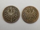 2 монеты по 2 пфеннига, Германия, фото №3