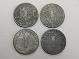 4 монеты по 1 рейхспфеннигу, Третий Рейх, фото №2