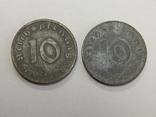 2 монеты по 10 рейхспфеннигов, Третий Рейх, фото №2