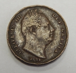 1 фартинг, 1831 г Великобритания, фото №3