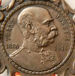 Австро-Венгрия. 80 лет, Император Франц-Иосиф. 1830-1910, 110мм, фото №4