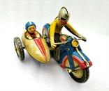 Мотоцикл с Коляской Tin Litho Винтаж Великобритания, фото №2