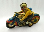 Мотоцикл с Коляской Tin Litho Винтаж Великобритания, фото №3