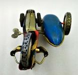 Мотоцикл с Коляской Tin Litho Винтаж Великобритания, фото №8