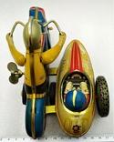 Мотоцикл с Коляской Tin Litho Винтаж Великобритания, фото №11
