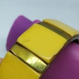 Латунный браслет со вставками из кости. ширина 23мм (3), фото №7