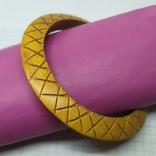 Деревянный браслет с орнаментом. (3), фото №2